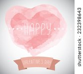 happy valentines day card.eps10 ...   Shutterstock .eps vector #232398643