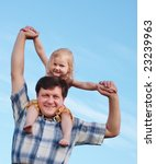girl with father on background... | Shutterstock . vector #23239963