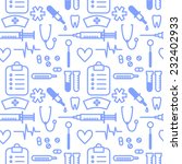 seamless pattern with outline... | Shutterstock .eps vector #232402933