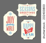 Christmas Holiday Tags Vintage...