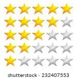 stylish star rating | Shutterstock .eps vector #232407553