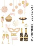 Party Clipart Set Illustration