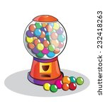 gumball machine isolated ... | Shutterstock .eps vector #232418263