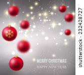 christmas blurred background... | Shutterstock .eps vector #232428727