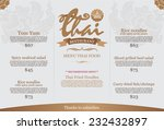 restaurant thai menu design  ... | Shutterstock .eps vector #232432897