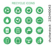 recycle long shadow icons  flat ... | Shutterstock .eps vector #232440043