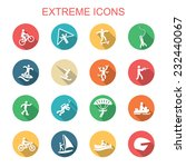 extreme long shadow icons  flat ...   Shutterstock .eps vector #232440067