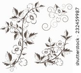 vector retro floral background... | Shutterstock .eps vector #232459987