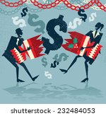 abstract business people pull a ... | Shutterstock .eps vector #232484053