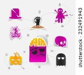 halloween flat infographic | Shutterstock . vector #232491943