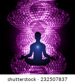 Man Meditate Abstract Purple...