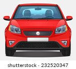 vector red car   front view  ...
