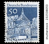 germany   circa 1966  a stamp... | Shutterstock . vector #232538053