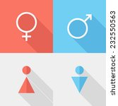 gender icons. flat design style ... | Shutterstock .eps vector #232550563