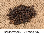 Black Pepper Peas On Sacking...