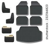 vector car mats set 2 | Shutterstock .eps vector #232566823