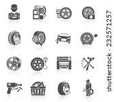 tire wheel service car auto... | Shutterstock .eps vector #232571257