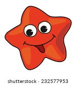 cartoon starfish on white... | Shutterstock .eps vector #232577953