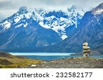stacked stones in torres del... | Shutterstock . vector #232582177