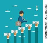 crowdfunding vector concept...   Shutterstock .eps vector #232589803