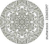 round mandala  abstract... | Shutterstock .eps vector #232603297