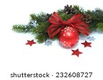 green branches and decorated... | Shutterstock . vector #232608727