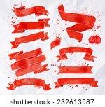 watercolors ribbons in vector... | Shutterstock .eps vector #232613587