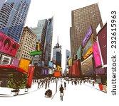 city hand drawn  vector... | Shutterstock .eps vector #232615963