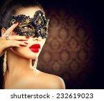 Beauty Model Woman Wearing...