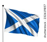 scotland flag with fabric... | Shutterstock . vector #232619857