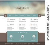 website template with abstract... | Shutterstock .eps vector #232625047