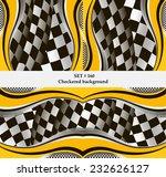set of checkered vector flag... | Shutterstock .eps vector #232626127