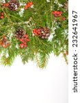 christmas background with snow  ... | Shutterstock . vector #232641967