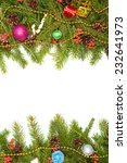 christmas background with balls ... | Shutterstock . vector #232641973
