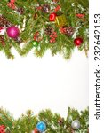 christmas background with balls ... | Shutterstock . vector #232642153