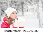 Happy Girl On A Frosty Winter...