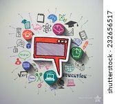 education collage with icons...   Shutterstock .eps vector #232656517
