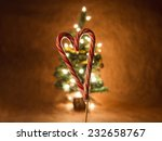 Candy Cane Heart Shape With...