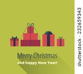 christmas card with gift boxes. ...   Shutterstock .eps vector #232659343