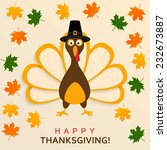 happy thanksgiving turkey | Shutterstock .eps vector #232673887