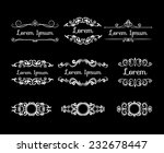 mega set of white retro styled... | Shutterstock .eps vector #232678447