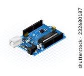 isometric single board micro... | Shutterstock .eps vector #232680187