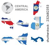 flags of central america... | Shutterstock .eps vector #232682353