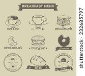 breakfast menu hand drawing... | Shutterstock .eps vector #232685797