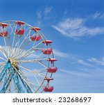 ferris wheel with space for text | Shutterstock . vector #23268697