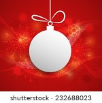 merry christmas design. paper... | Shutterstock .eps vector #232688023