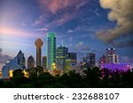 Dallas City Skyline Twilight Texas - Fine Art prints