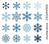 various winter snowflakes... | Shutterstock .eps vector #232694503