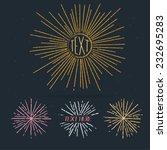 sunburst in hand draw style ... | Shutterstock .eps vector #232695283