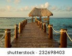 isolated pier on a beautiful... | Shutterstock . vector #232698403